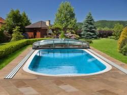 Berlaufschwimmbecken swimmingpool pool kaufen g nstig for Gartenpool eckig