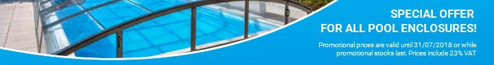 Special offer for all pool enclosures!